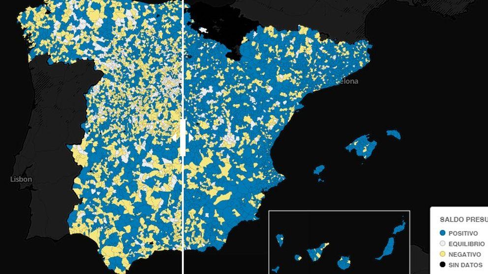 El mapa de la estabilidad presupuestaria de los municipios
