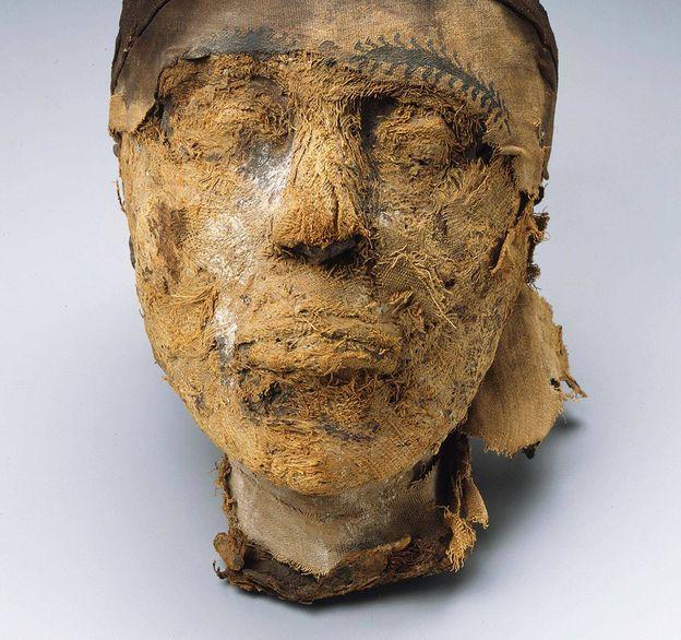 Foto: La cabeza de Djehutynakht, del 4.000 a. C. (Museo de Bellas Artes de Boston)