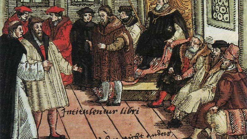 Foto: Lutero interviene en la dieta de Worms, 1521.