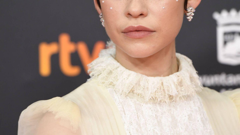 Detalle del maquillaje de Greta Fernández (Limited Pictures)