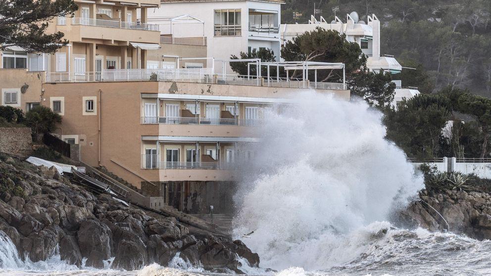 Alertas amarilla y naranja en el Mediterráneo por el fuerte temporal