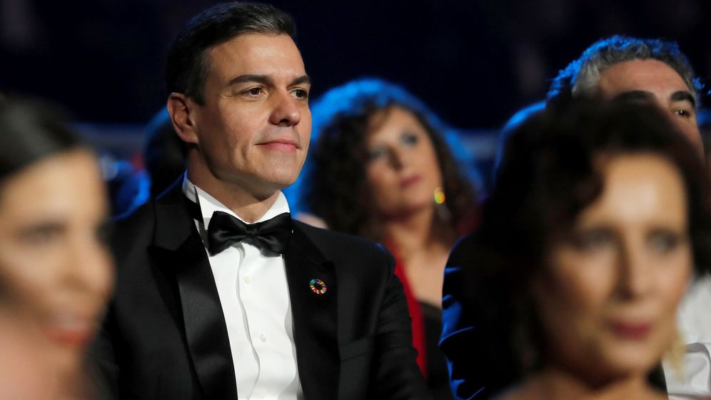 Foto: Pedro Sánchez asistió ayer a la gala de los Goya. (EFE)