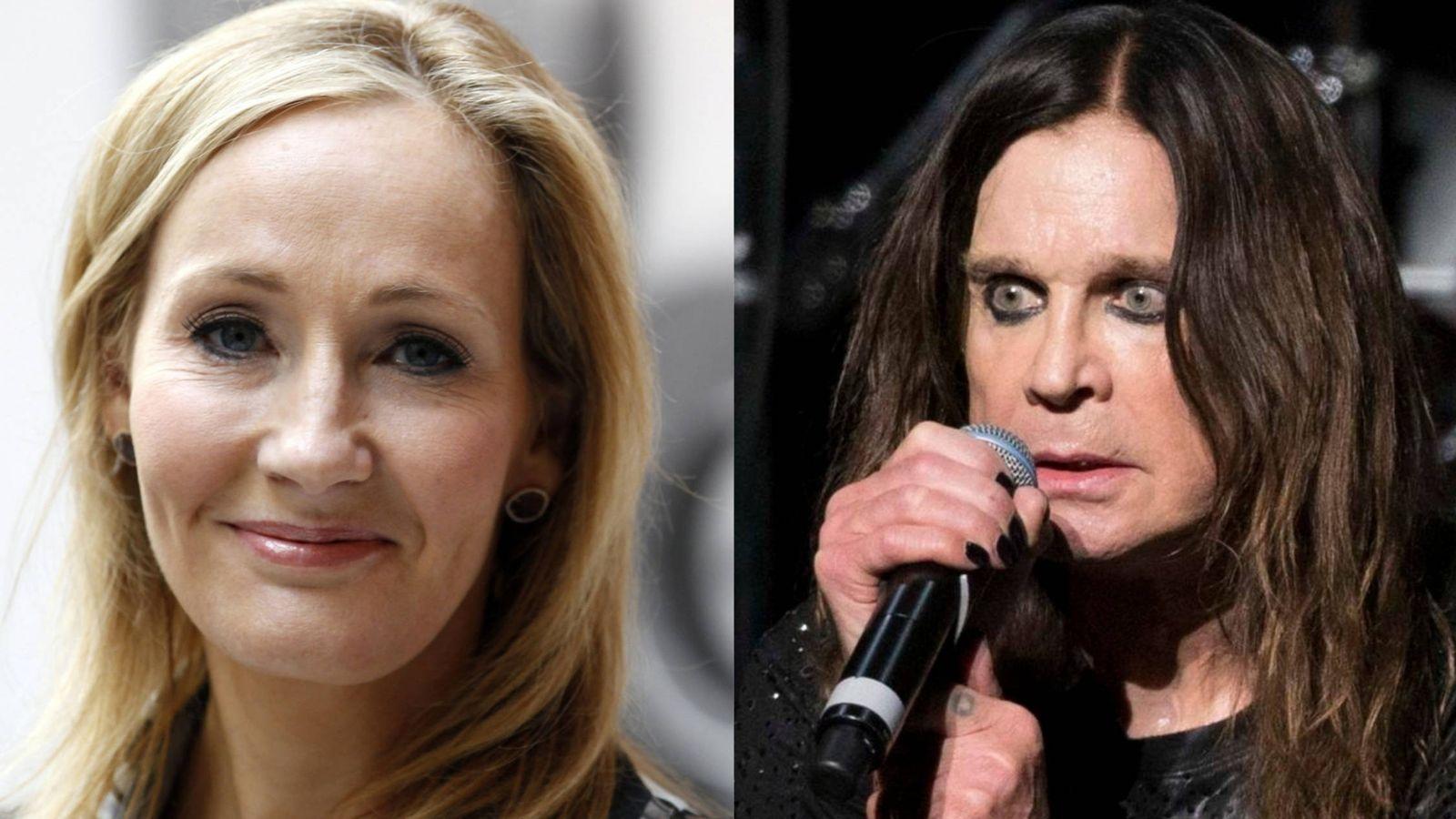 Foto: J.K. Rowling y Ozzy Osbourne | Reuters