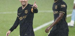 Post de Atención, noticia: el Barça ya no recula ni quedándose con uno menos (0-3)