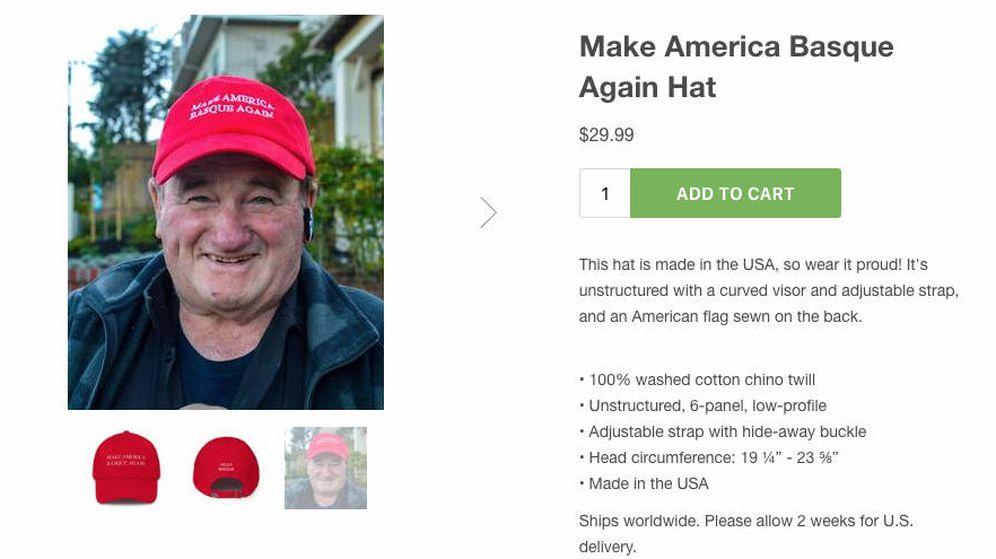 Foto: La gorra se ha convertido en un éxito de ventas en la tienda de Hella Basque