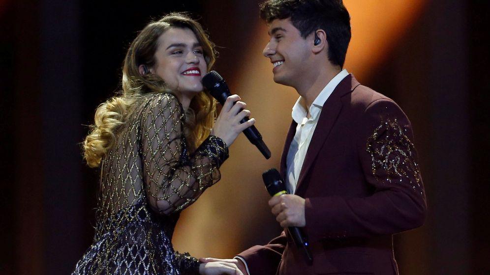 Foto: La expareja en Eurovisión. (Reuters)