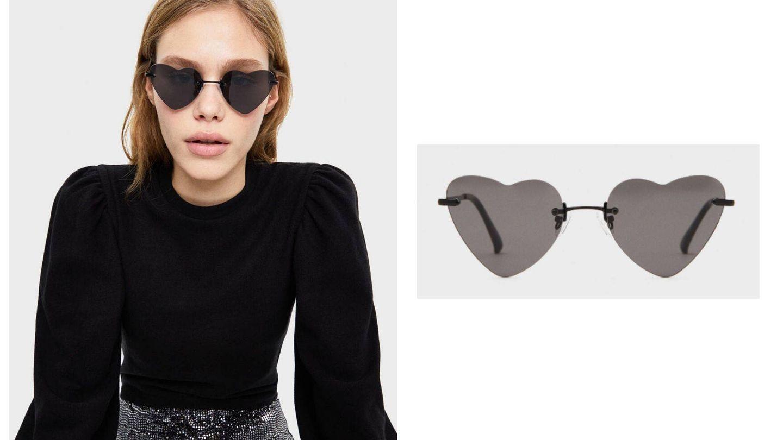 Unas gafas de sol con forma de corazón de Bershka (Cortesía)