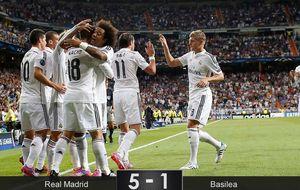 Una manita del Real Madrid para olvidar la crisis y los malos rollos