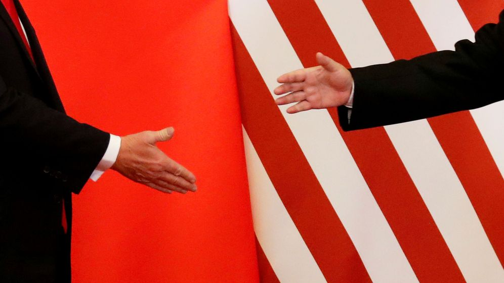 Foto: Encuentro entre Donald Trump y Xi Jinping en Pekín. (Reuters)