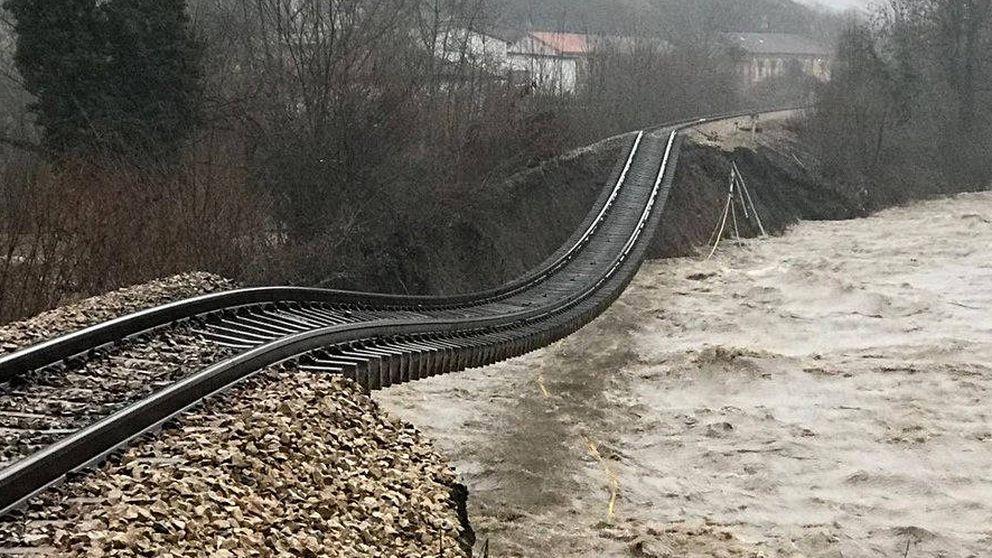 La increíble foto que ha dejado el temporal en Asturias