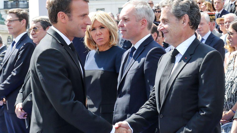 Foto: Emmanuel Macron y Nicolas Sarkozy. (Reuters)