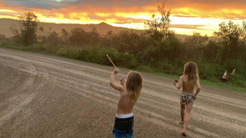 Una puesta de sol en Australia. (Instagram @chrishemsworth)