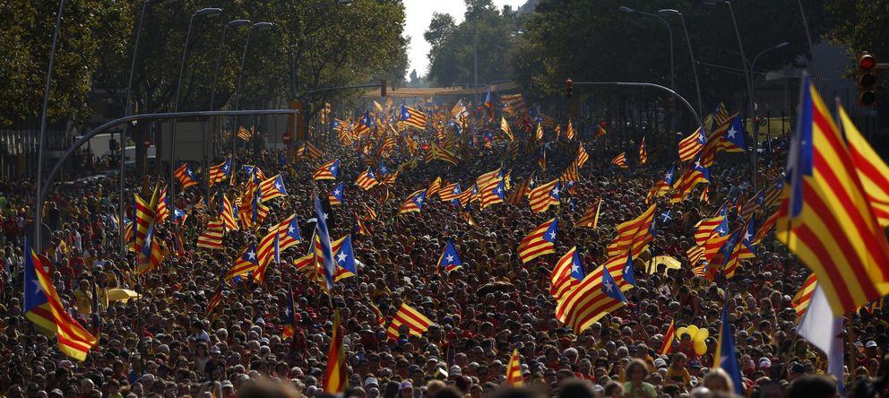 Foto: Celebración de la Diada en Barcelona (AP)