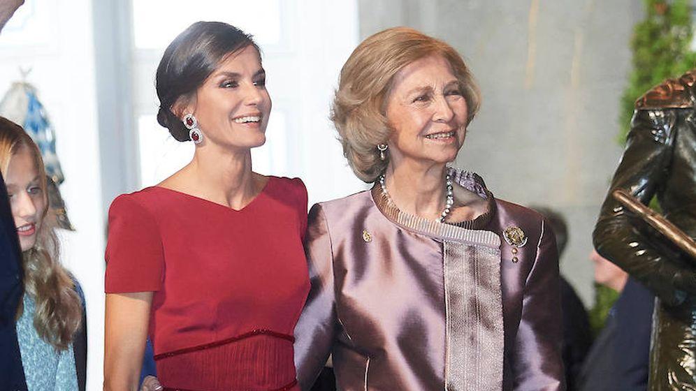 Foto: La reina Letizia y la reina Sofía, en una imagen de archivo. (Limited Pictures)