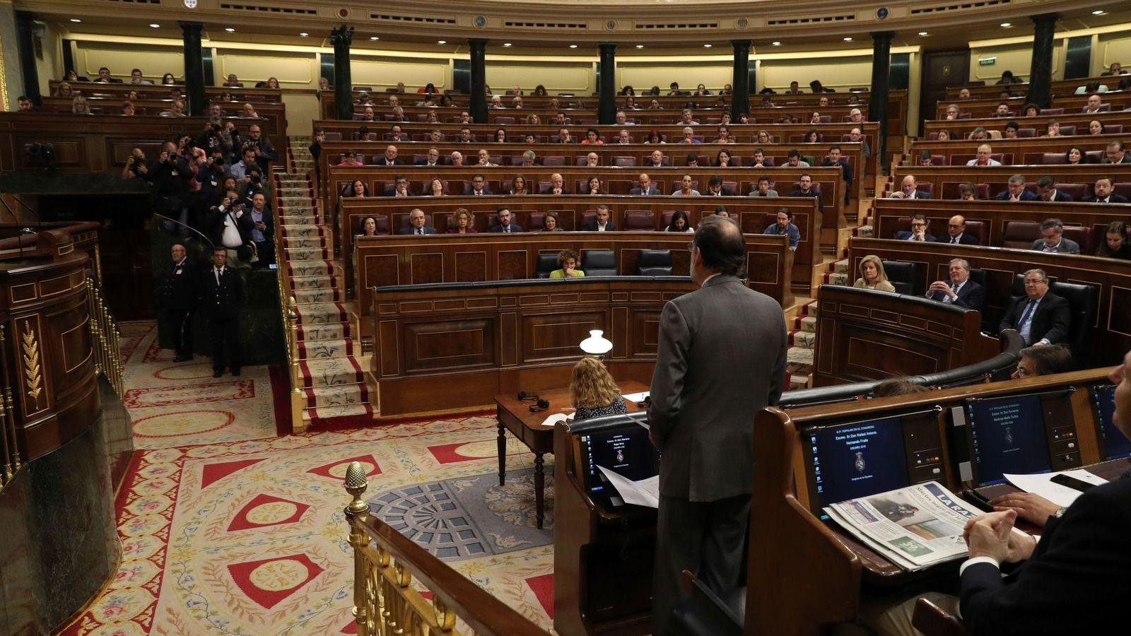 Foto: Mariano Rajoy se dirige al Congreso en una imagen de archivo. (EFE)