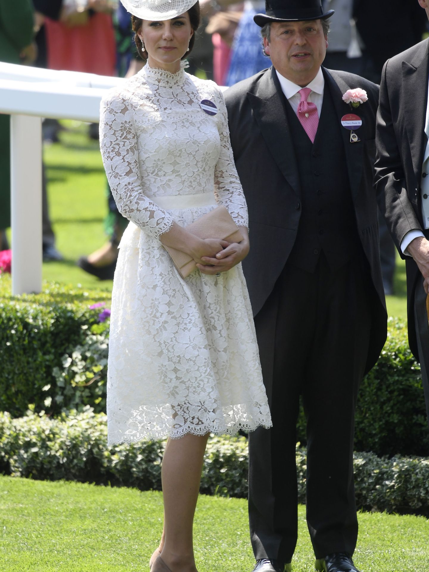 Britain Horse Racing - Royal Ascot - Ascot Racecourse - June 20, 2017 Catherine, the Duchess of Cambridge with Sir Francis Brooke at Ascot REUTERS Toby Melville Livepic
