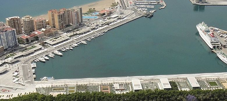 Foto: Vista aérea del Puerto de Málaga.