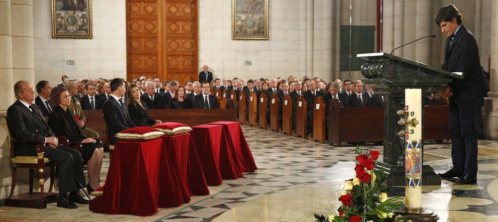 La familia real en el funeral de Adolfo Suárez. (Efe)