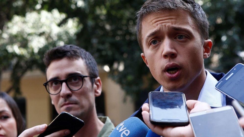 Foto: El líder de Más País, Íñigo Errejón, durante la presentación de la candidatura de Més Barcelona. (EFE)