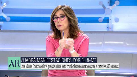 Es un riesgo: Ana Rosa critica la celebración de manifestaciones el 8M