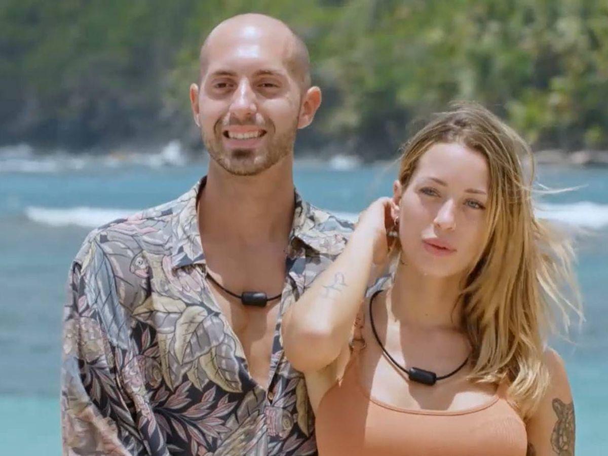 Foto: Pablo y Mayka, una de las parejas de 'La isla de las tentaciones 2'. (Mediaset)