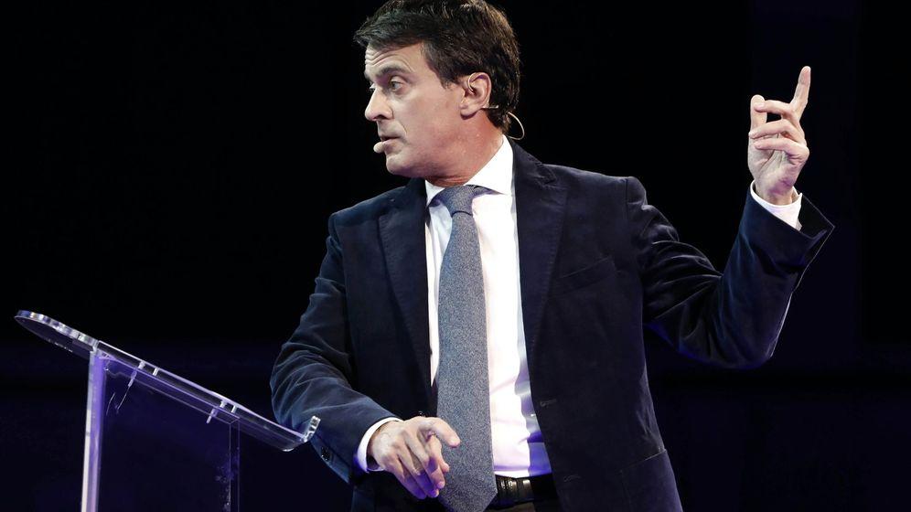 Foto: Manuel Valls en la presentación de su campaña. (EFE)