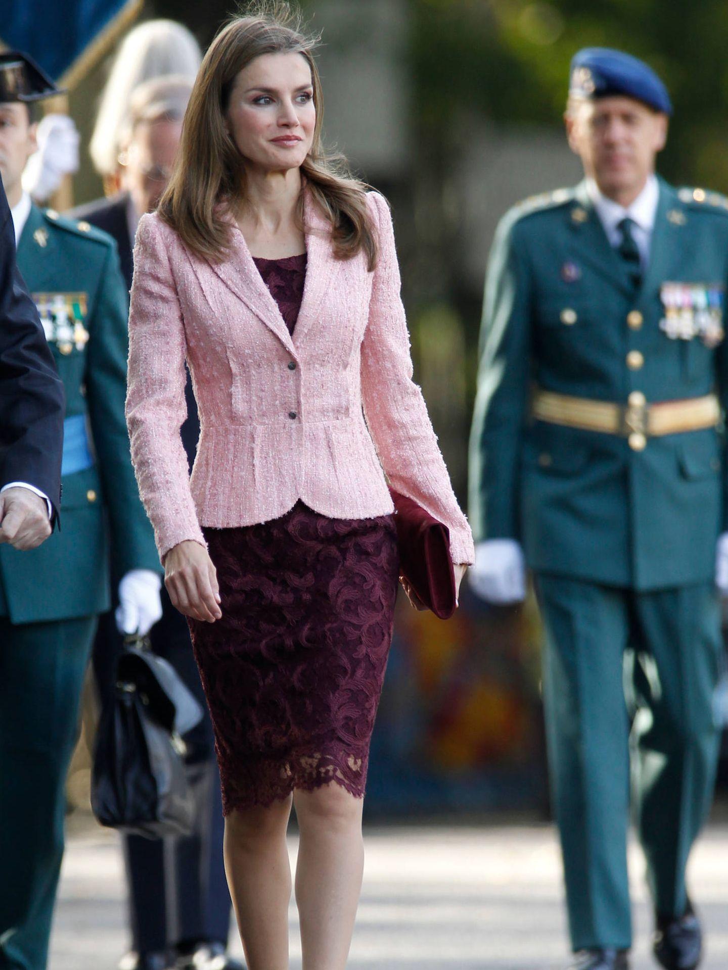 Doña Letizia, en el Día de la Hispanidad de 2013. (LP)
