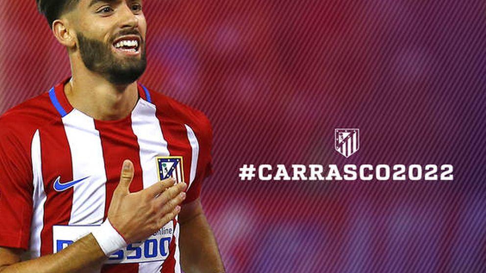 Yannick Carrasco prolonga su contrato con el Atlético de Madrid hasta 2022