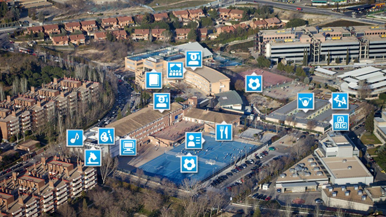 Vista aérea del British Council y sus instalaciones (Página web del centro)