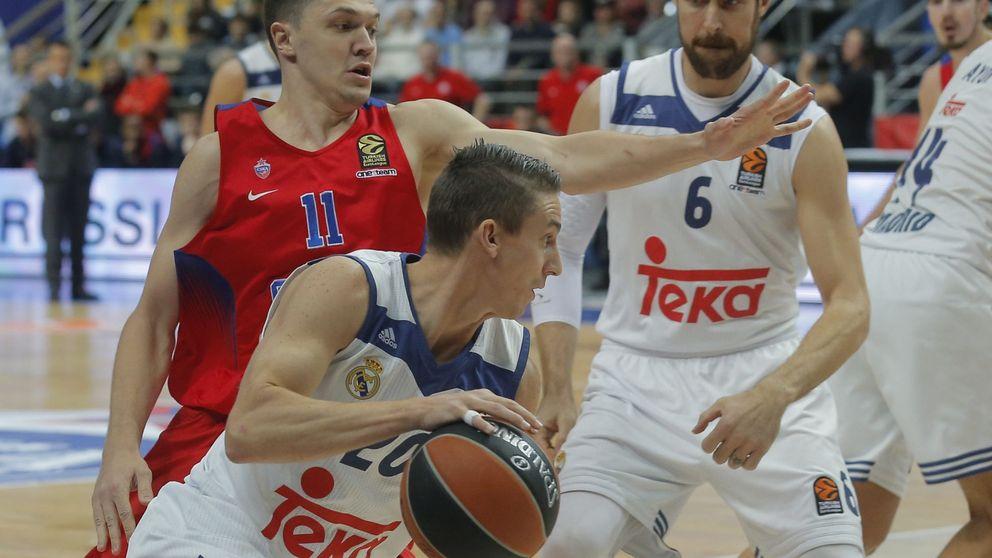 El Madrid desaprovechó la oportunidad que le dio el CSKA de Moscú