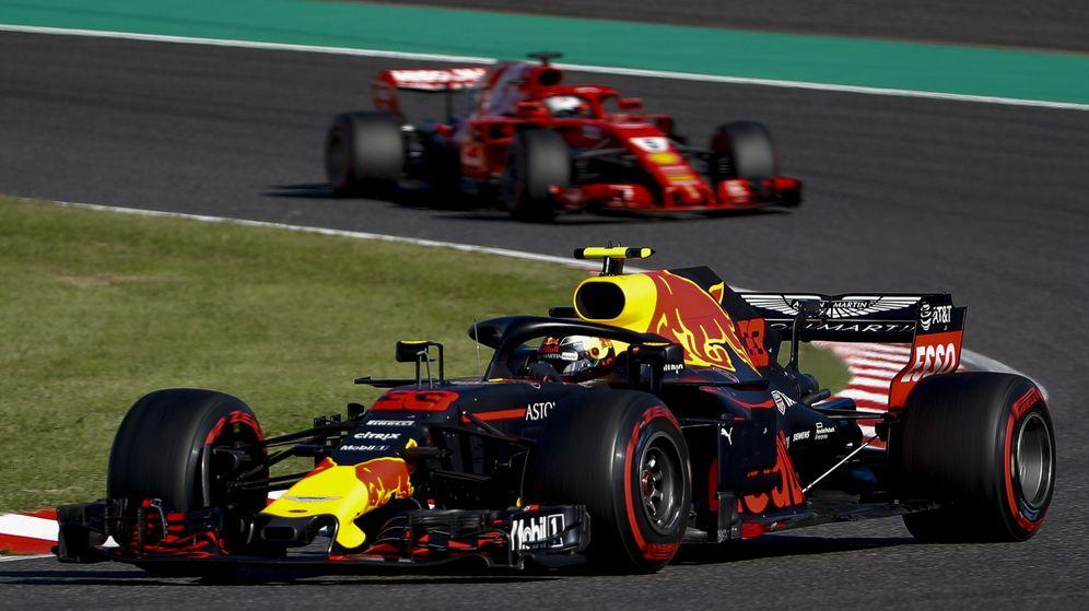 Foto: Ferrari no pudo con un duro Verstappen en Japón. (EFE)