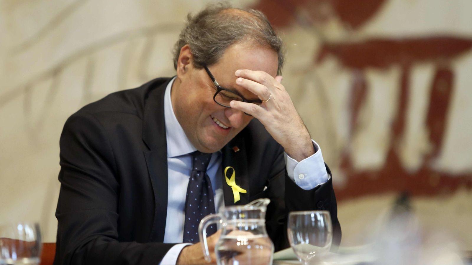 Foto: Quim Torra en una reunión del Govern esta semana. (EFE)