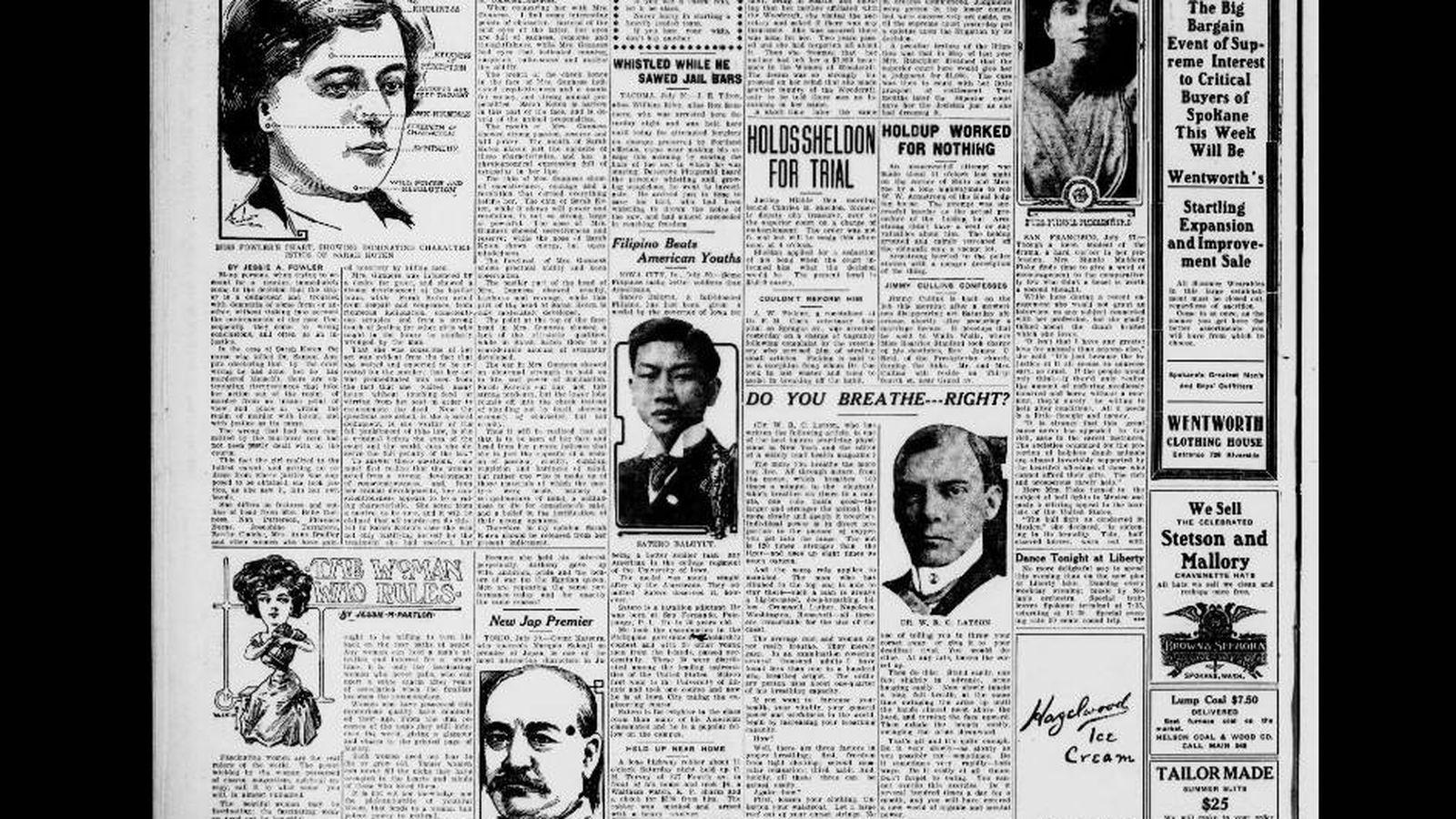 Foto: Artículo sobre el caso en 'The Spokane Press'. (Biblioteca del Congreso)