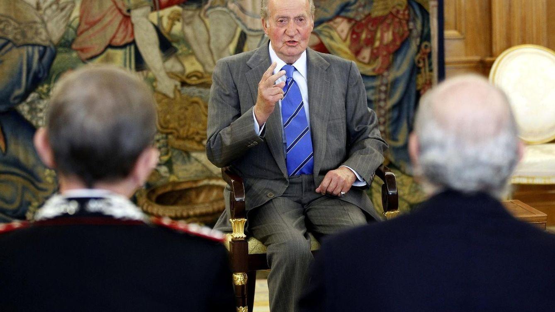Foto: El Rey Don Juan Carlos en Zarzuela, en una imagen de archivo (EFE)
