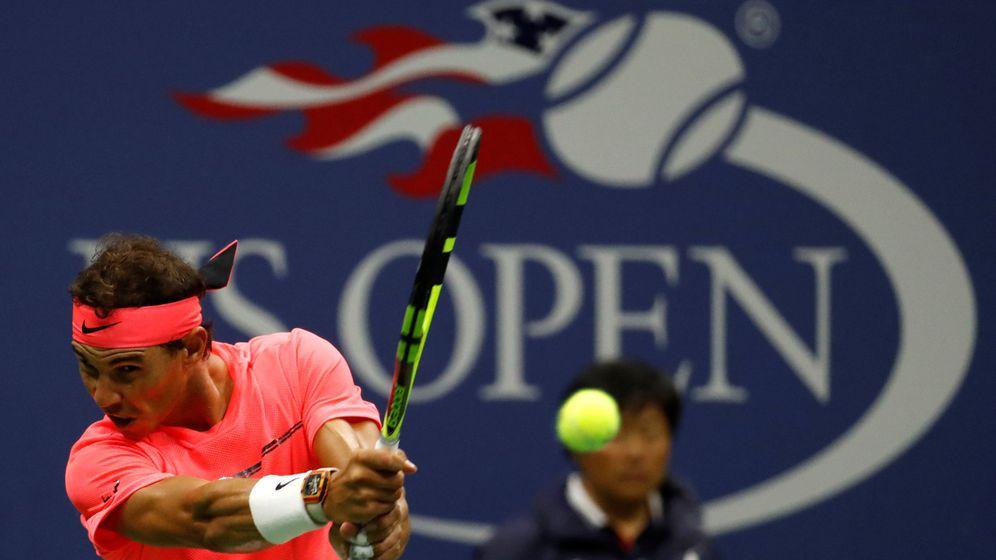 Foto: Nadal, durante su partido contra Rublev. (Reuters)