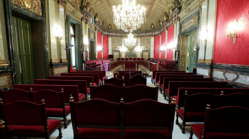 Foto: Vista general de la Sala Penal del Tribunal Supremo, donde tendrá lugar el juicio del 'procés'. (EFE)