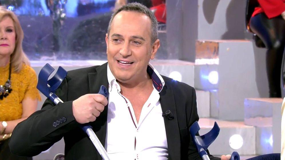 Foto: Víctor Sandoval, en 'Sábado Deluxe'. (Telecinco).