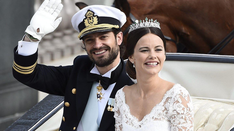 Carlos Felipe y Sofía el día de su boda (EFE)