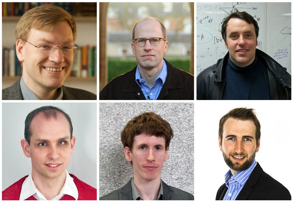 Foto: De izq. a dch.: Anders Sandberg, Nick Bostrom, Stuart Amstrong, Simon Beard, Owain Evans y Niel Bowerman. (FHI)