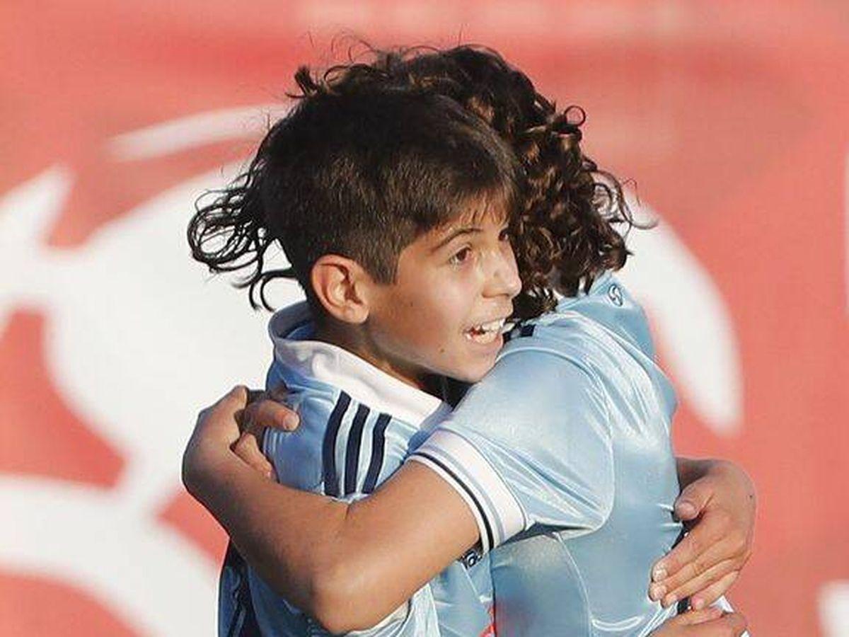 Foto:  Bryan Bugarín, en un partido con el Celta en la Liga Promises