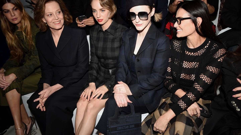Bianca Brandolini, Sigourney Weaver, Maya Hawke, Rachel Brosnahan y Demi Moore. (Getty)
