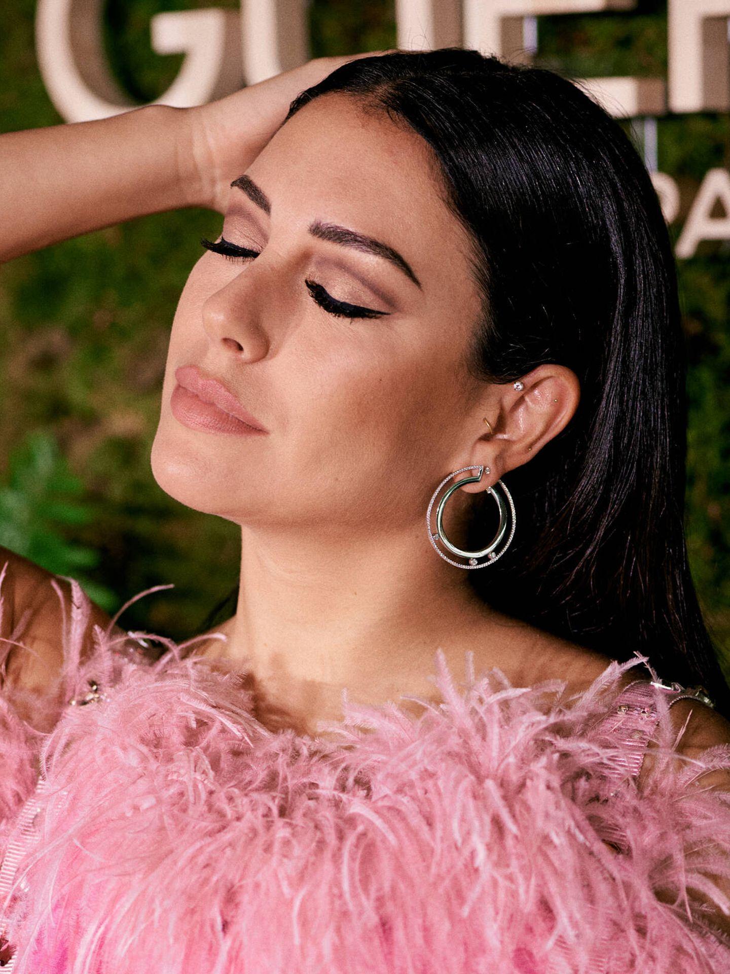 Blanca Suárez, en la presentación de Guerlain con los contouring eyes. (Cortesía)