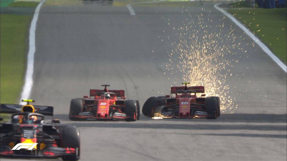 Foto: El incidente entre Vettel y Leclerc en Brasil fue el cénit del duelo entre ambos en otro año sin títulos para Ferrari (EFE)