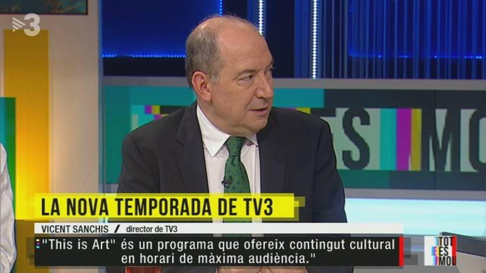 Foto: El director de TV3, Vicent Sanchis, en 'Tot es mou'. (CCMA).