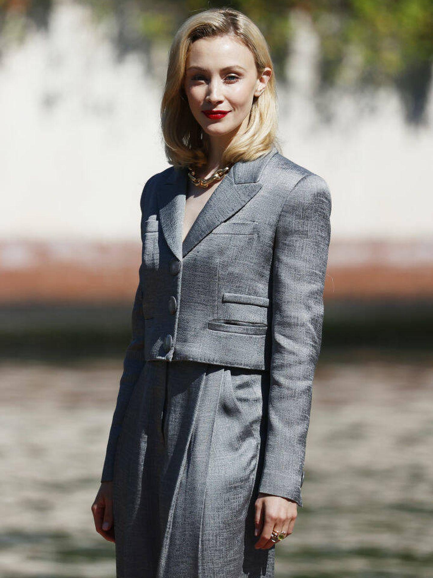 La actriz canadiense Sarah Gadon llega al Festival de Venecia. (Getty)