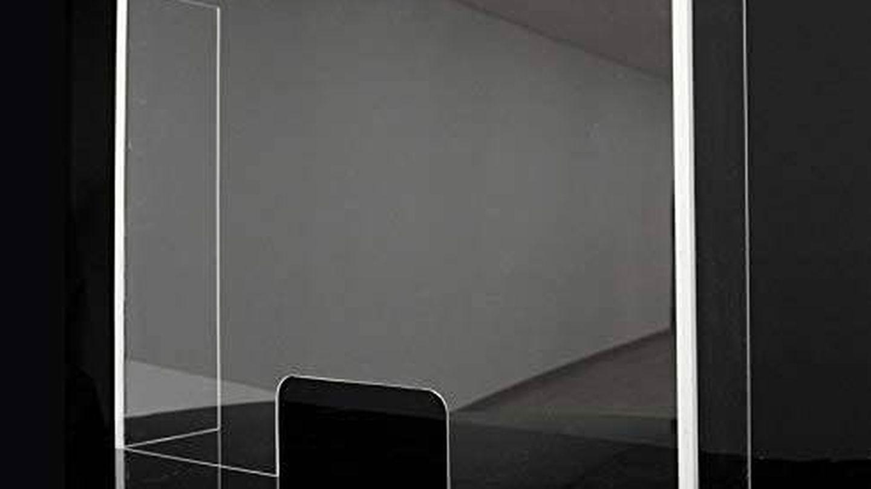 Mampara transparente con laterales