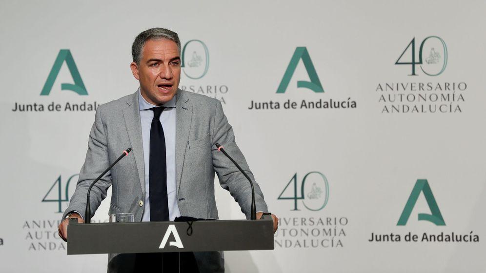 Foto: El consejero de la Presidencia de la Junta de Andalucía y portavoz del Gobierno, Elías Bendodo. (EFE)