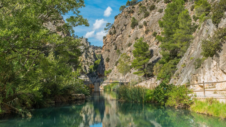Paisaje fluvial Santuario de La Fontcalda (Fuente: iStock)