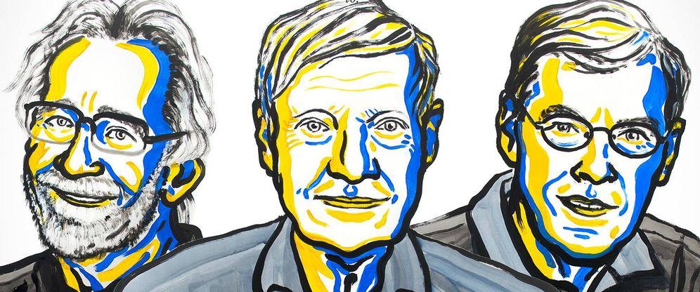Foto: Los tres nuevos Nobel de Química 2017.