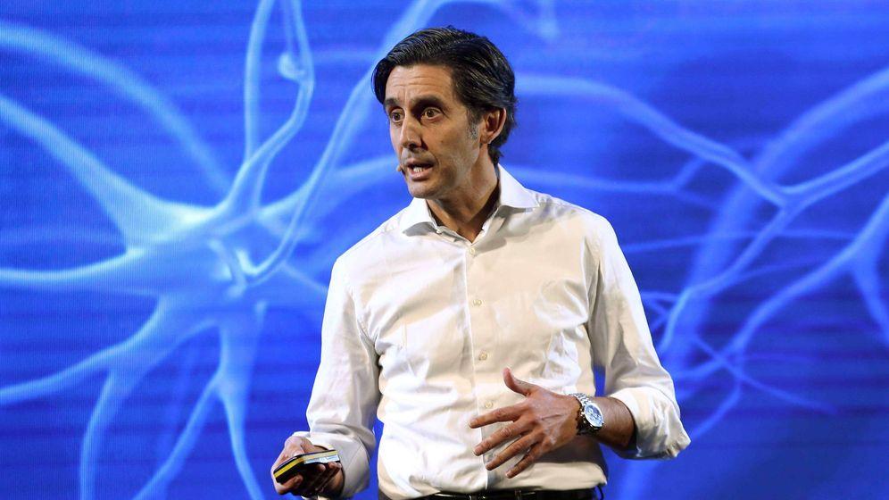 Foto: El presidente de Telefónica José María Álvarez-Pallete en el Mobile World Congress (MWC). (EFE)